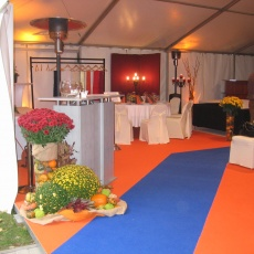 rendezvény sátor dekoráció
