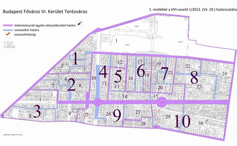 budapest 6 kerület térkép VI. kerület   Terézváros | Kevesebb szavazókör lesz Terézvárosban budapest 6 kerület térkép