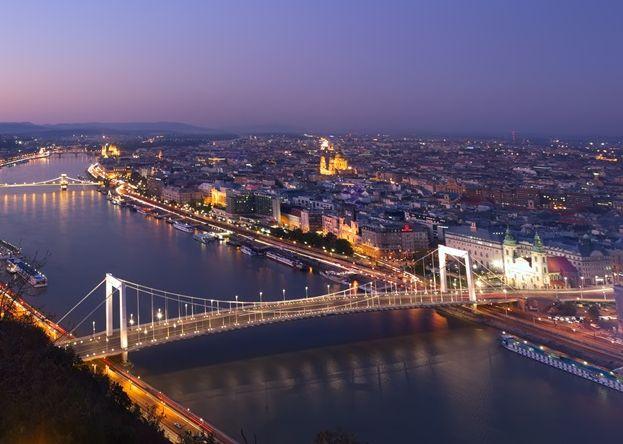 Budapest belvárosa madártávlatból